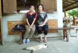 Mom with Aor and the cat