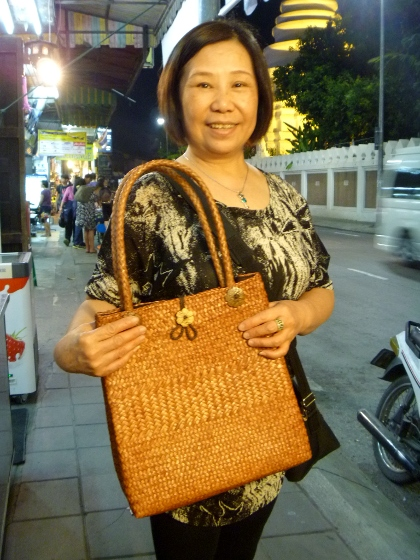 Mom shopping at Night Bazaar
