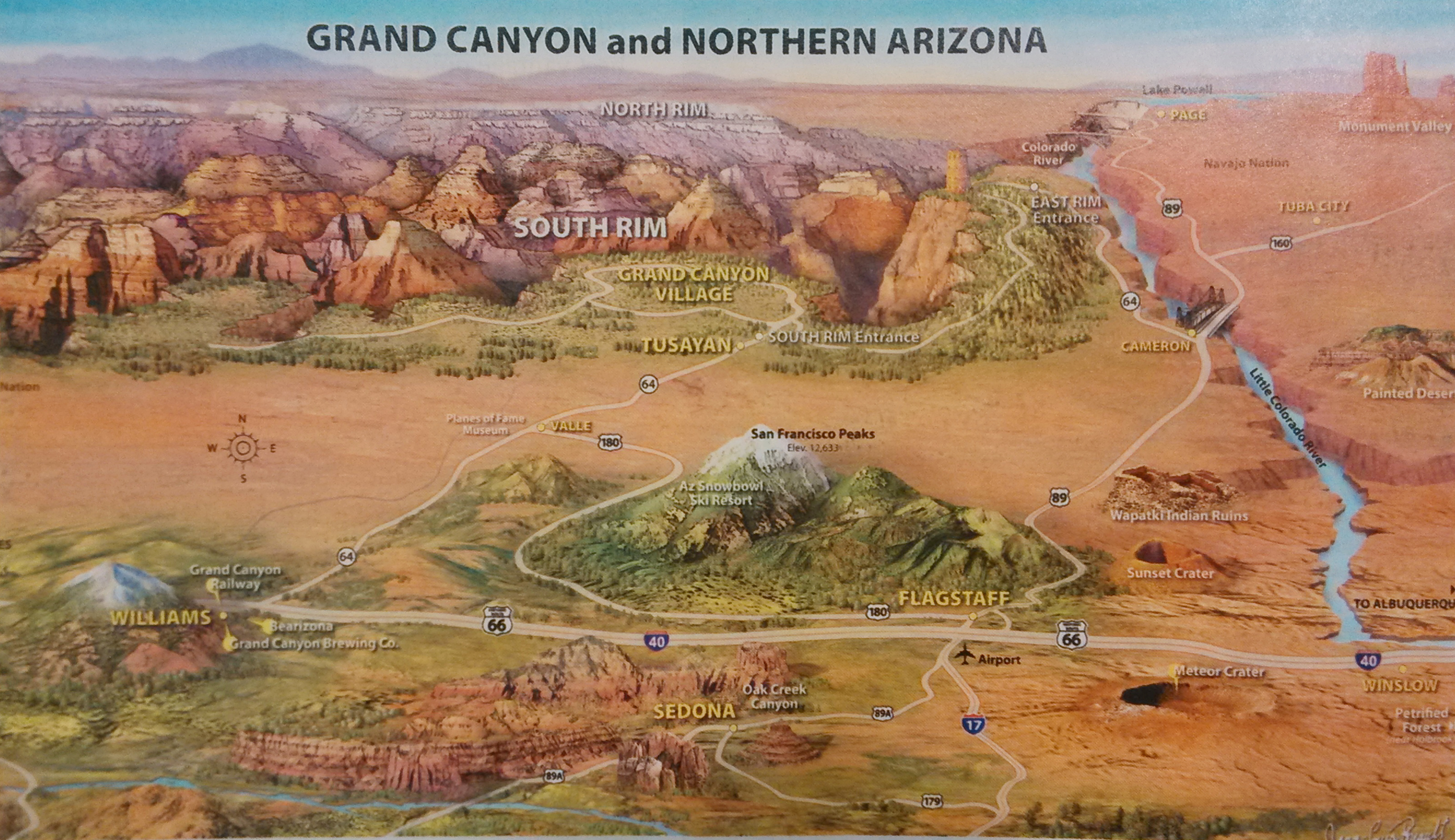 Grand Canyon Map